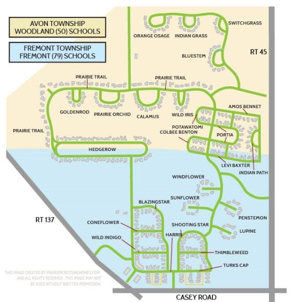 Prairie Crossing Schools Map